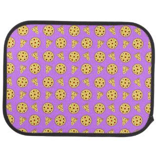 パステル調の紫色ピザパターン カーマット