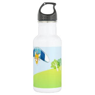 パステル調の緑および青の熱気の気球 ウォーターボトル