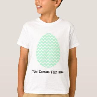パステル調の緑のジグザグ形のイースターエッグ Tシャツ