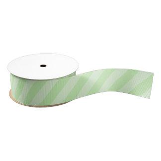 パステル調の緑のストライプのなグログランリボン グログランリボン
