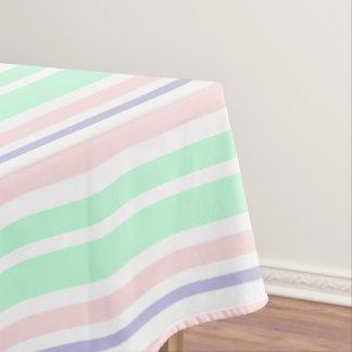 パステル調の緑のピンクおよび紫色のテーブルクロス テーブルクロス