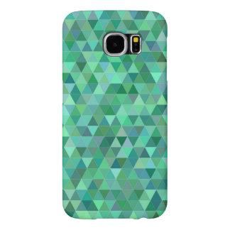 パステル調の緑の三角形 SAMSUNG GALAXY S6 ケース