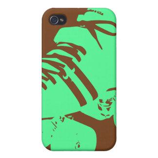 パステル調の緑及びチョコレートローラースケートのiPhoneの箱 iPhone 4/4Sケース