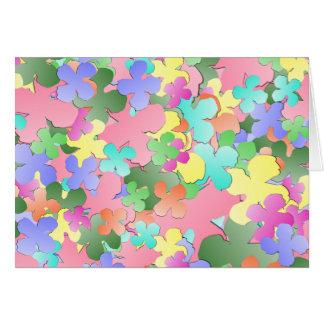 パステル調の花のコラージュ カード