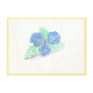 パステル調の花のプリント キャンバスプリント