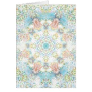パステル調の花の曼荼羅 カード