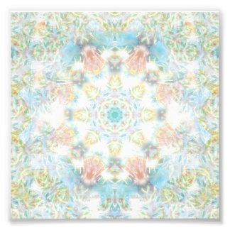 パステル調の花の曼荼羅 フォトプリント