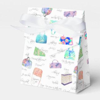 パステル調の花の水彩画の絵のタイポグラフィ フェイバーボックス
