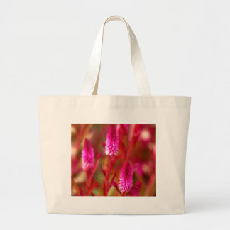 パステル調の花 ラージトートバッグ