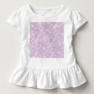 パステル調の薄紫の春Paisely トドラーTシャツ