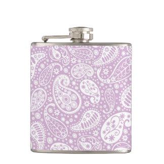 パステル調の薄紫の春Paisely フラスク