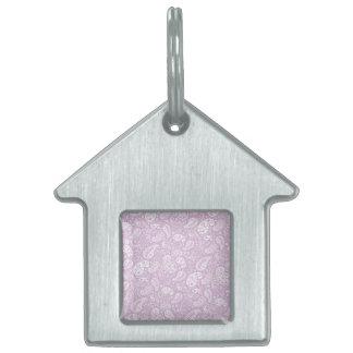 パステル調の薄紫の春Paisely ペットネームタグ