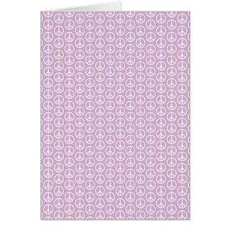 パステル調の薄紫の白いピースサイン カード