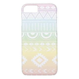 パステル調の虹のアステカなデザインPhonecase iPhone 8/7ケース