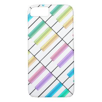 パステル調の虹のピアノは音楽iPhone 7の場合を調整します iPhone 8/7ケース