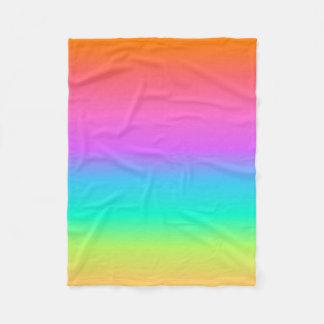 パステル調の虹のフリースブランケット フリースブランケット