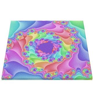 パステル調の虹の螺線形のキャンバスの芸術 キャンバスプリント