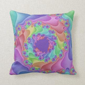 パステル調の虹の螺線形の装飾用クッション クッション