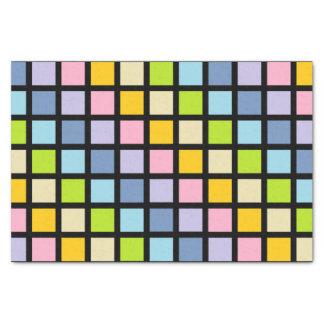 パステル調の虹は黒を平方します 薄葉紙