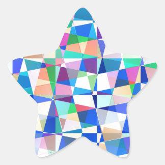 パステル調の部分 星シール