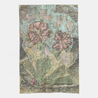 パステル調の野生花 キッチンタオル