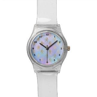 パステル調の金ユニコーンの腕時計 腕時計