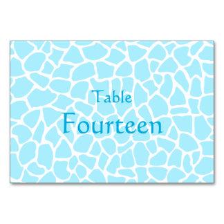 パステル調の青いアニマルプリントのキリンパターン カード