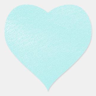 パステル調の青いレザールック ハートシール