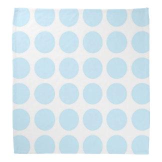 パステル調の青い水玉模様のバンダナ バンダナ