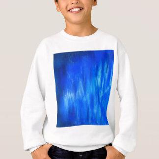 パステル調の青い炎(抽象的表現主義) スウェットシャツ
