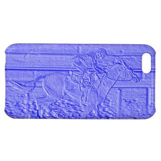 パステル調の青い競馬の純血種の競馬馬 iPhone 5C カバー