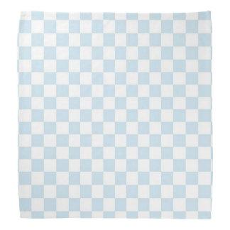 パステル調の青および白いチェッカーボード バンダナ