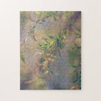 パステル調の青および緑の植物 ジグソーパズル