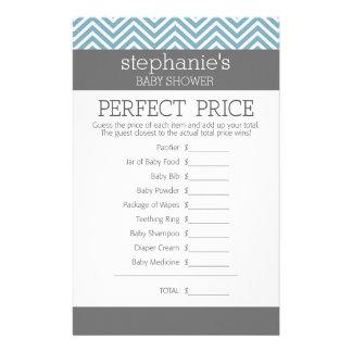 パステル調の青色児のシャワーのゲーム-完全な価格 便箋