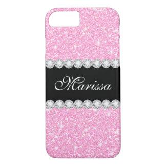 パステル調ピンクのグリッターの魅力的な穹窖のiPhone 8/7の場合 iPhone 8/7ケース