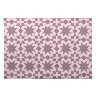 パステル調ピンクのスタイリッシュでシックで装飾的なパターン ランチョンマット