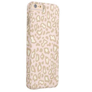 パステル調ピンクのヒョウのiPhone 6のプラスの場合 Barely There iPhone 6 Plus ケース