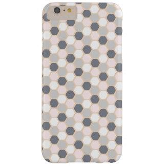 パステル調ピンクのプラス幾何学的な六角形のiPhone 6 + 場合 Barely There iPhone 6 Plus ケース