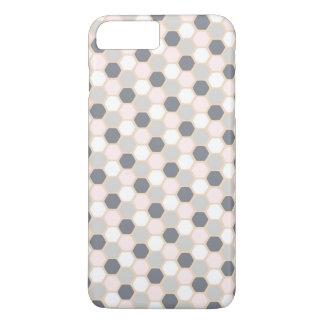 パステル調ピンクのプラス幾何学的な六角形のiPhone 7 + 場合 iPhone 8 Plus/7 Plusケース