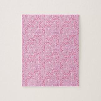 パステル調ピンクのメンフィスのファンキーなデザイン ジグソーパズル