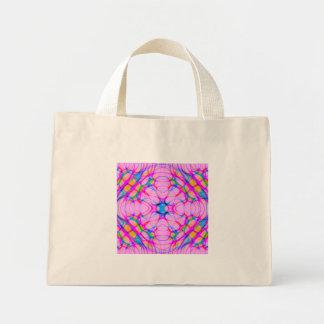 パステル調ピンクの万華鏡のように千変万化するパターンパターン抽象芸術 ミニトートバッグ