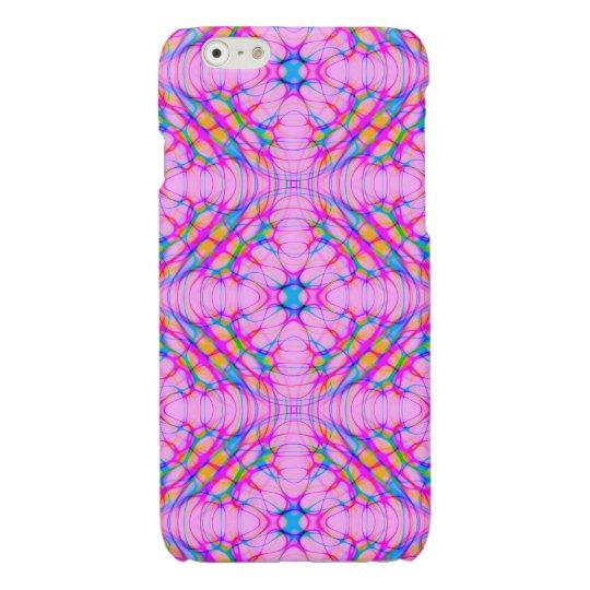 パステル調ピンクの万華鏡のように千変万化するパターンパターン抽象芸術 光沢iPhone 6ケース
