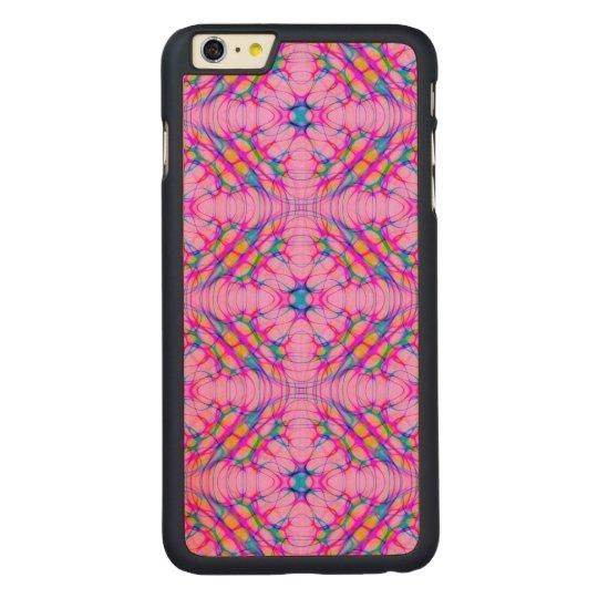 パステル調ピンクの万華鏡のように千変万化するパターンパターン抽象芸術 CarvedメープルiPhone 6 PLUS スリムケース