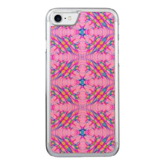 パステル調ピンクの万華鏡のように千変万化するパターンパターン抽象芸術 CARVED iPhone 7 ケース
