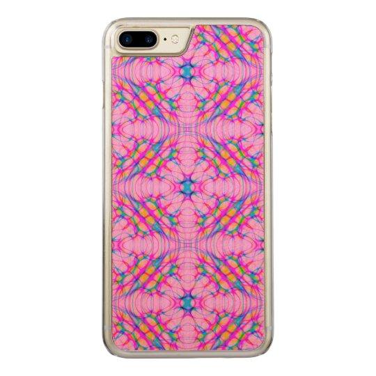パステル調ピンクの万華鏡のように千変万化するパターンパターン抽象芸術 CARVED iPhone 8 PLUS/7 PLUS ケース