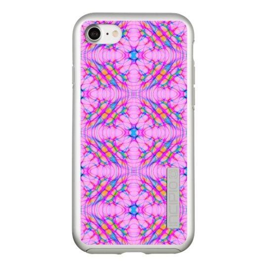 パステル調ピンクの万華鏡のように千変万化するパターンパターン抽象芸術 INCIPIO DualPro SHINE iPhone 7ケース