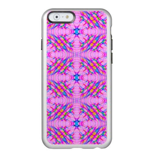 パステル調ピンクの万華鏡のように千変万化するパターンパターン抽象芸術 INCIPIO FEATHER SHINE iPhone 6ケース