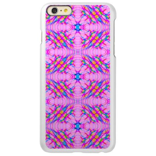 パステル調ピンクの万華鏡のように千変万化するパターンパターン抽象芸術 INCIPIO FEATHER SHINE iPhone 6 PLUSケース
