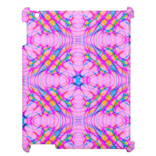パステル調ピンクの万華鏡のように千変万化するパターンパターン抽象芸術 iPadカバー