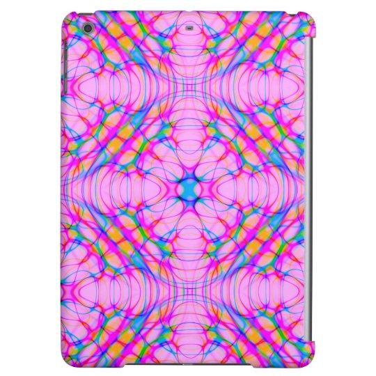 パステル調ピンクの万華鏡のように千変万化するパターンパターン抽象芸術 iPad AIRケース